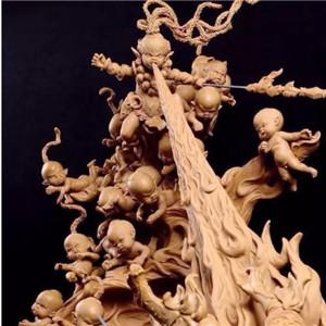 巨匠雕刻合作精致