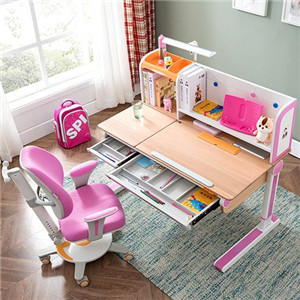 A佳学习桌粉色