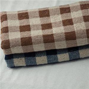 中国结竹纤维毛巾格子