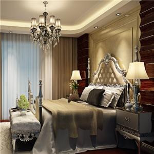 深蓝色装饰卧室