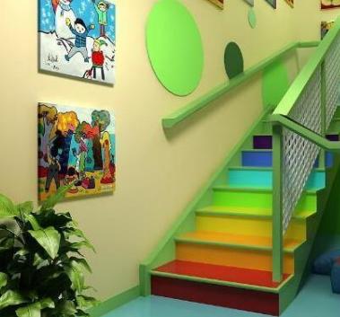 贝贝佳欧莱幼儿园楼梯
