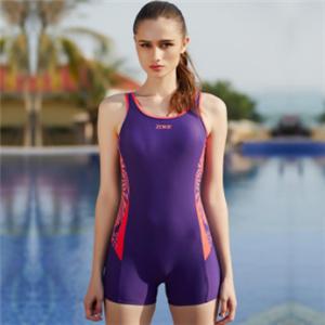 洲克泳衣紫色