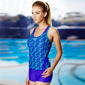 洲克泳衣蓝色