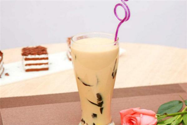 双美豆沙牛乳茶
