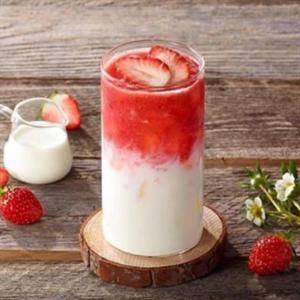 萃益茗奶茶草莓