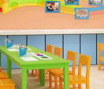 晨光雙語幼兒園桌子