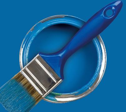 青花瓷墻藝漆藍色