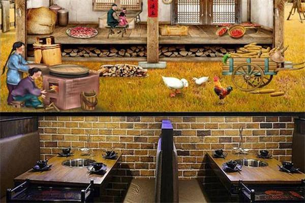 農家面館壁畫