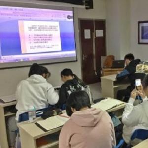 國輝職業培訓學校上課