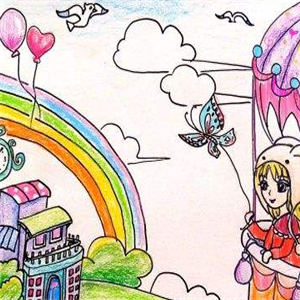 童彩童畫少兒美術可愛