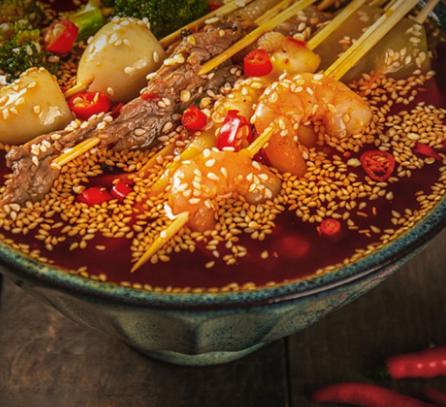 串串香小吃虾仁