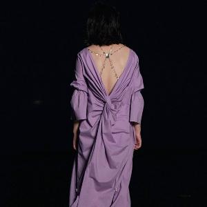 夕紫荷女裝長裙