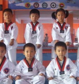 林轩跆拳道馆教学