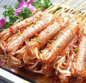 大黑烧烤皮皮虾