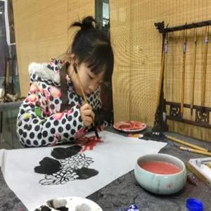 紫羅蘭畫室水墨畫
