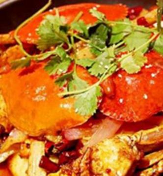 椒麻鸡肉蟹煲新鲜