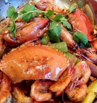 椒麻鸡肉蟹煲实惠