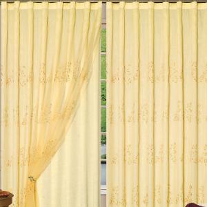 显豪居窗帘黄颜色