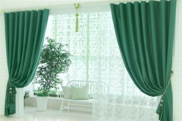 喜事簾簾家紡綠色