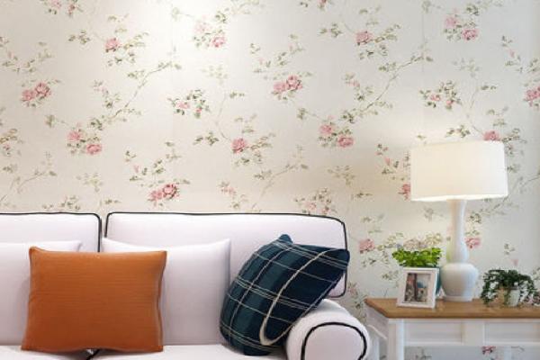 米素墙布花卉图案