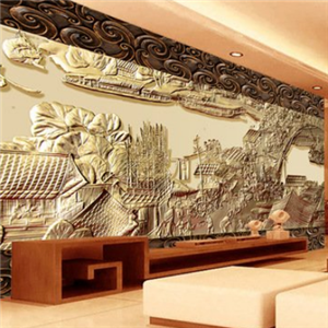 浮雕背景墙好看