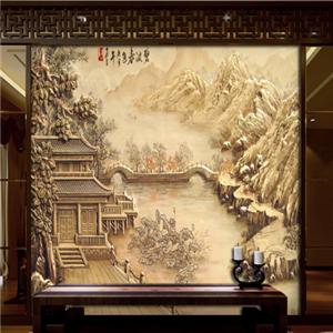 浮雕背景墙房屋
