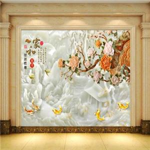 浮雕背景墙美景