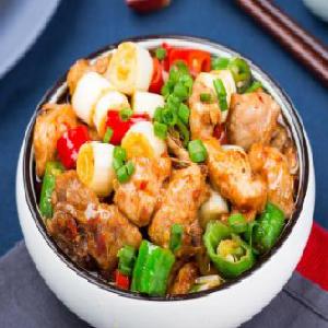 小碗菜快餐青椒鸡块