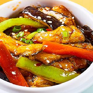 小碗菜快餐鱼香茄子