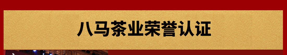 八马茶业_荣誉认证