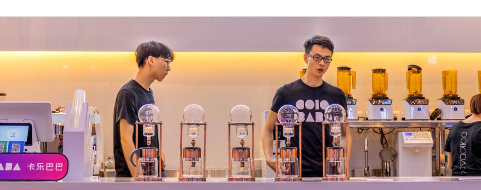 卡乐巴巴饮品——生意火爆场面