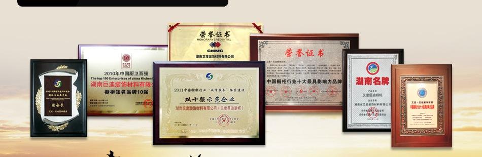 艾度巨迪橱柜——荣誉证书