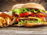 快樂星漢堡品牌logo