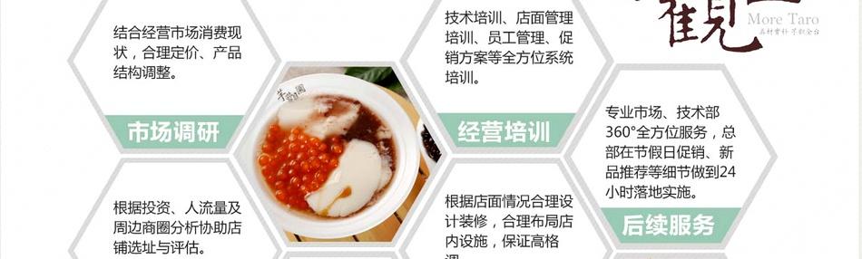 芋观园台湾甜品专家——6大核心支持